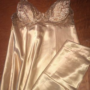Victoria's Secret Gold Nightgown Size L